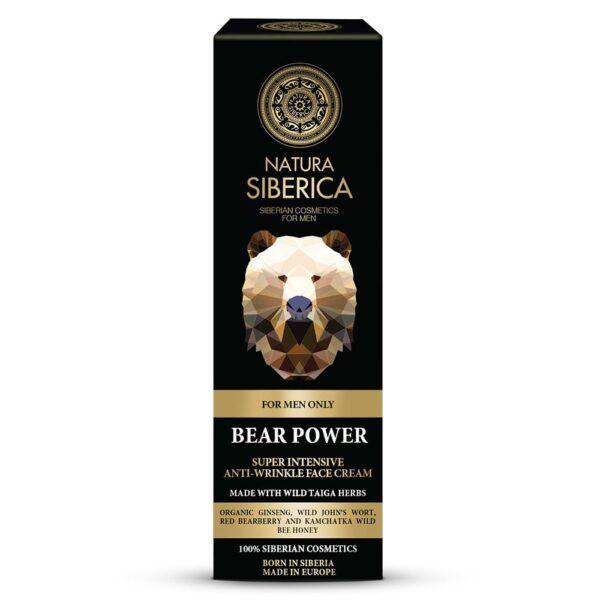 Moška krema za obraz proti gubam moč medveda, 50 ml – Natura Siberica